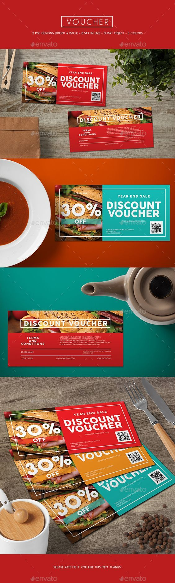 Voucher Card Template PSD #design Download: http://graphicriver.net/item/voucher-card/13376867?ref=ksioks: