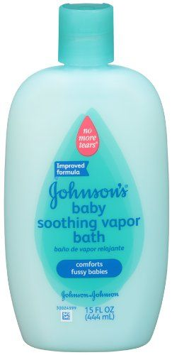 Johnson's Baby Bath Soothing Vapor Bath...found these for a friend of mines baby shower and thought it was the best thing.