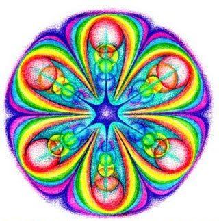 he elegido esta imagen porque representa muy bien el ritmo y simetría radial y lo he elegido de entre otros porque me han llamado la atención el uso en él de colores llamativos y vivos.