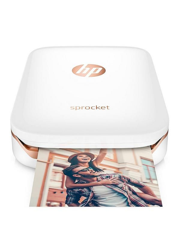 Print photos from your phone or tablet any time, any place with the HP Sprocket Portable Photo Printer. Weighing only 172g and fitting easily in your bag or pocket, this makes photos instantly sharable with 5 x 7.6cm (2 x 3 inch) snapshots or stickers of every fun-filled moment.It links easily with your phone or tablet via Bluetooth® and allows you to customise your photos before you print with the HP Sprocket App – get creative with text, borders, emojis and more to add a pop of personality