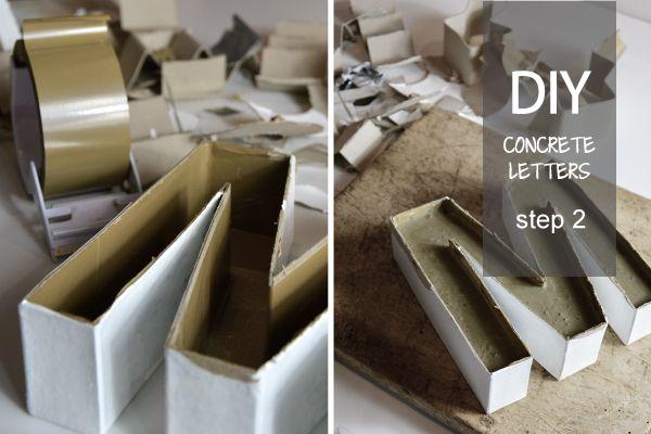 DIY: Lettere in cemento