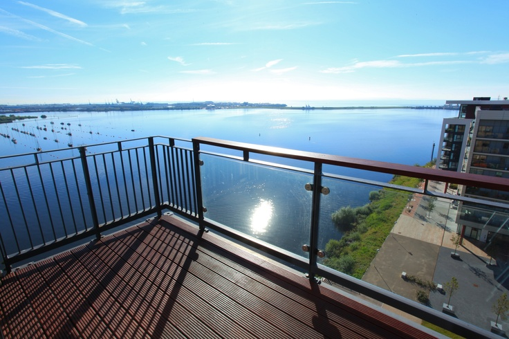Truly panoramic uninterrupted views over Cardiff Bay extending to the Channel and the Penarth Headland.