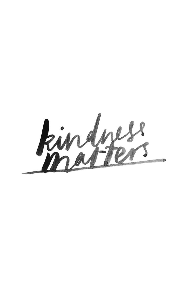biancacash.com, kindness matters, ink, type, watercolour, hand lettering, quote, typography