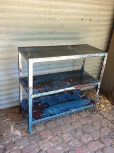 three-tiered steel stand