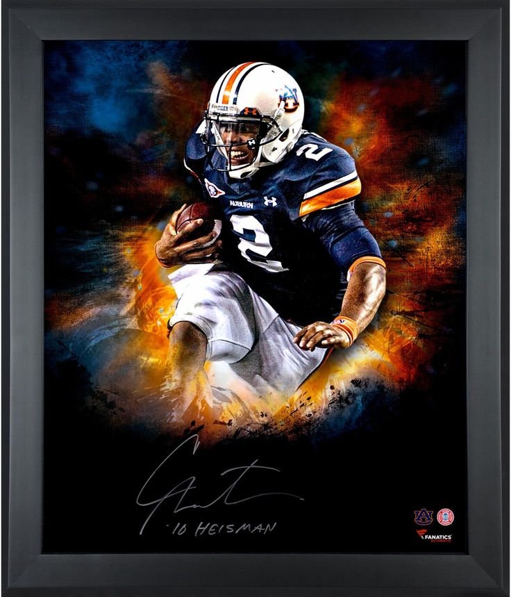 """Cam Newton Auburn Tigers Framed Autographed 20"""" x 24"""" In Focus Photograph with Heisman 2010 Inscription-#3-24 of a Limited Edition of 24"""