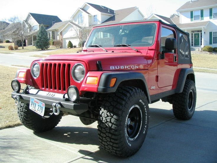 """01 jeep wrangler red 
