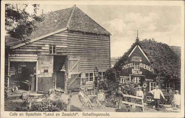 Cafe en speeltuin land en zeezicht Schellingwoude