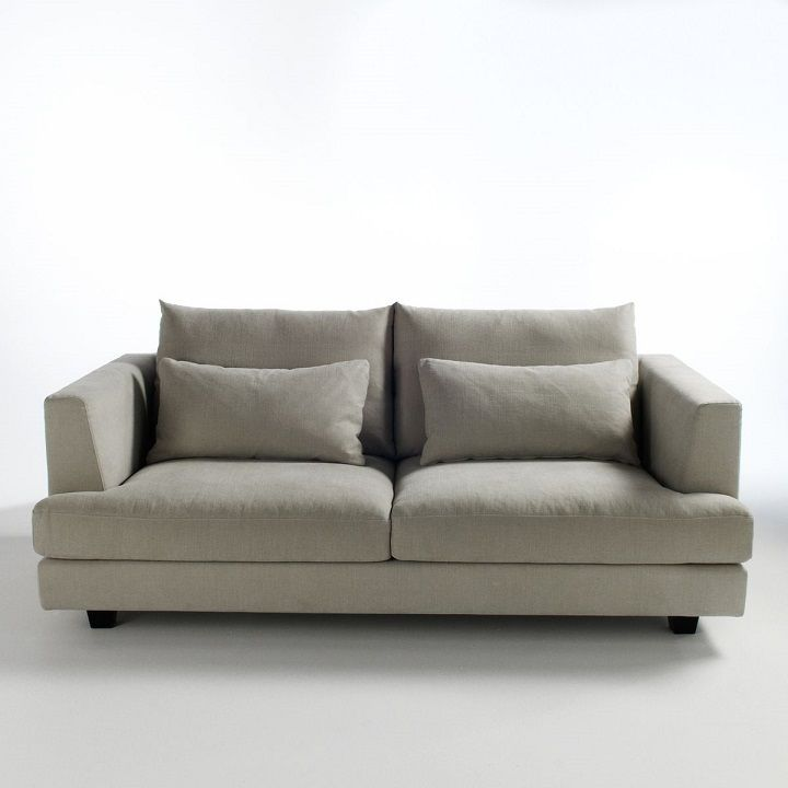 Canap fixe clabson toile coton lin am pm meubles et - Canape la redoute am pm ...