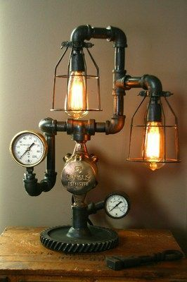 1000 Images About Steampunk Lamps On Pinterest Industrial Steampunk Gears And Lamps