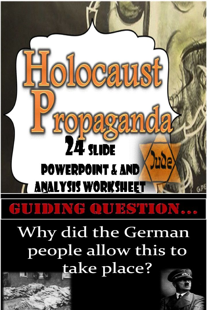 This is a 24 slide PowerPoint that will help students to understand how Hitler used Nazi propaganda to promote anti-Semitism and allow the Final Solution to take place.  There are many examples of propaganda displayed as well as a description of the techniques used to persuade the Germans to accept Nazi beliefs.   Students will be able to work together to decide how persuasive and effective a Nazi propaganda poster is and the techniques that were used.