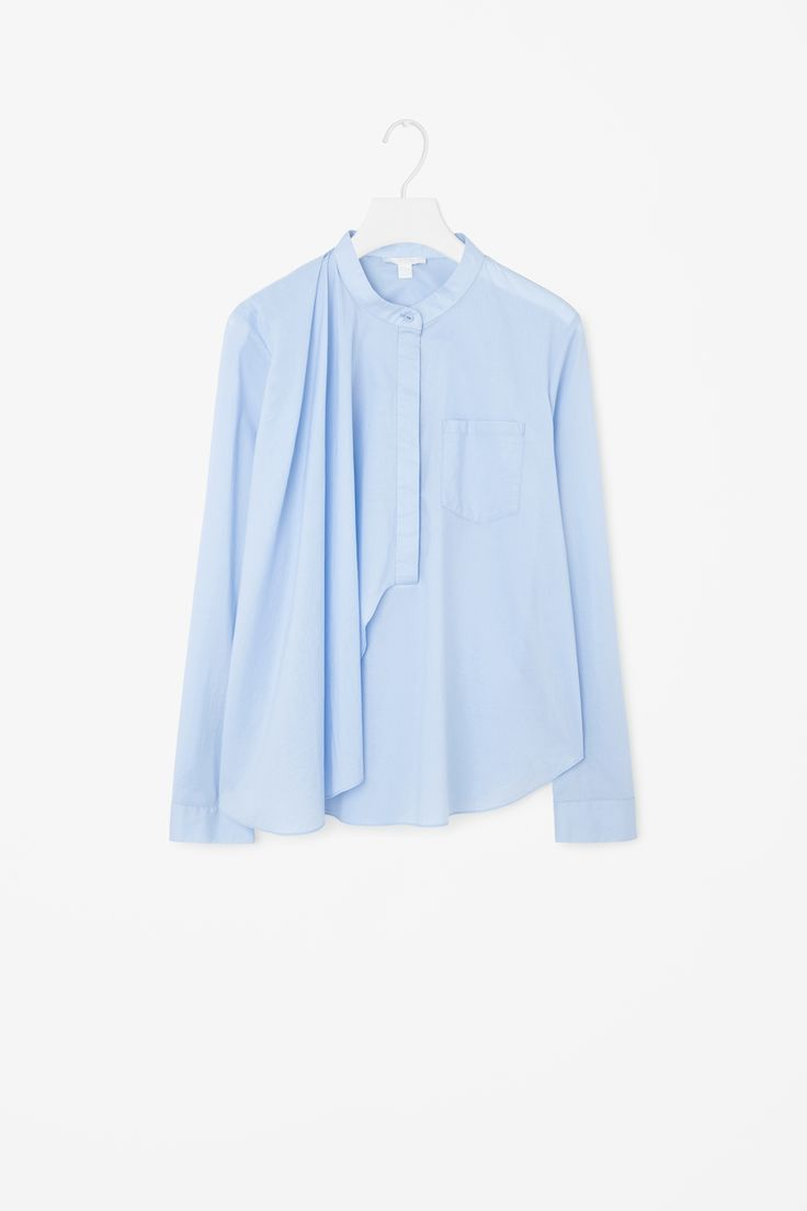 COS | Grandad collared drape shirt