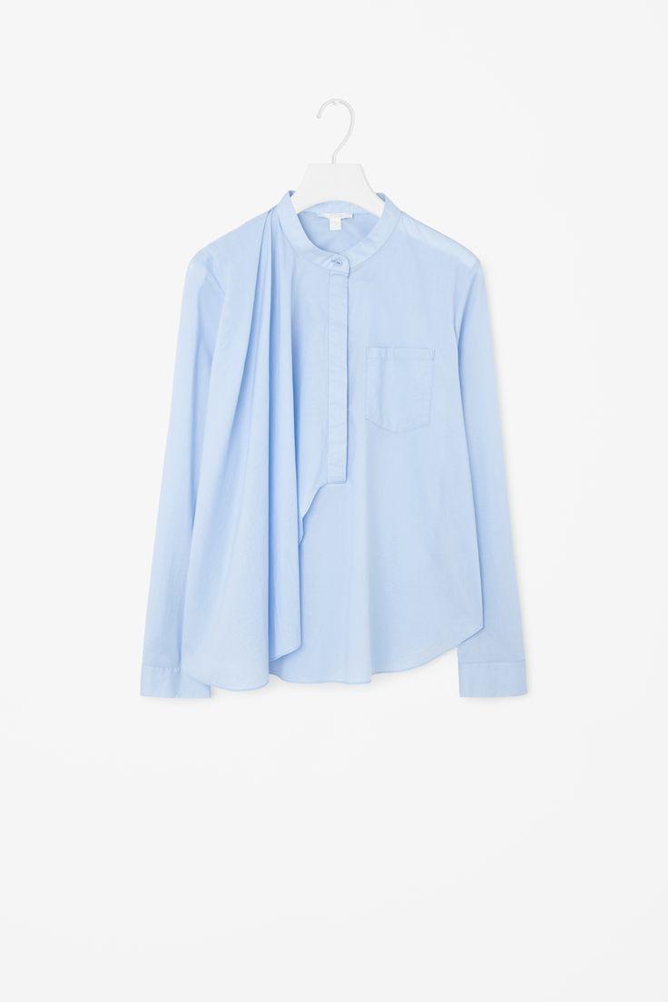 COS | Grandad collared drape shirt