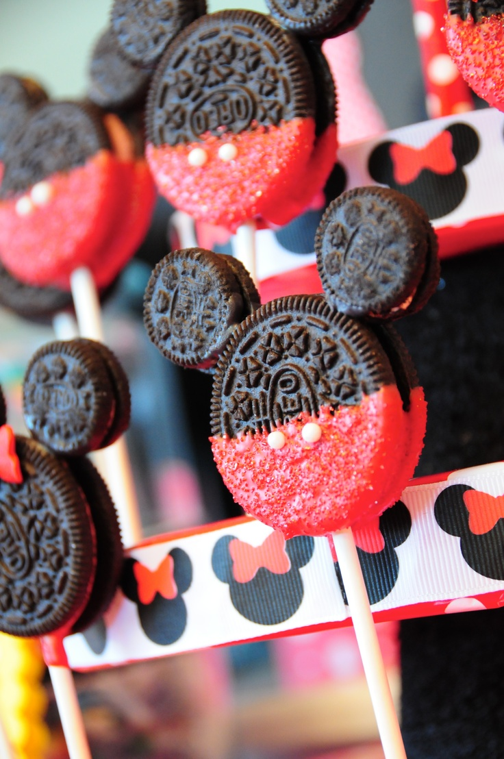 Mickey Mouse Oreo Pops Mickey Themed Party Pinterest