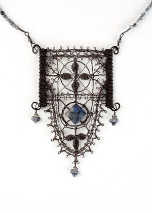 Lenka Suchanek Pendant - lace created with wire - awesome!!!