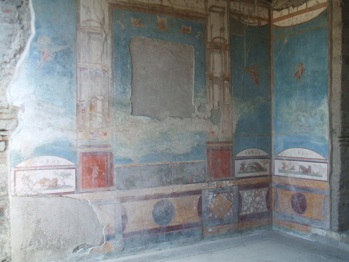 Pompei, Italy - Fresco wall paintings