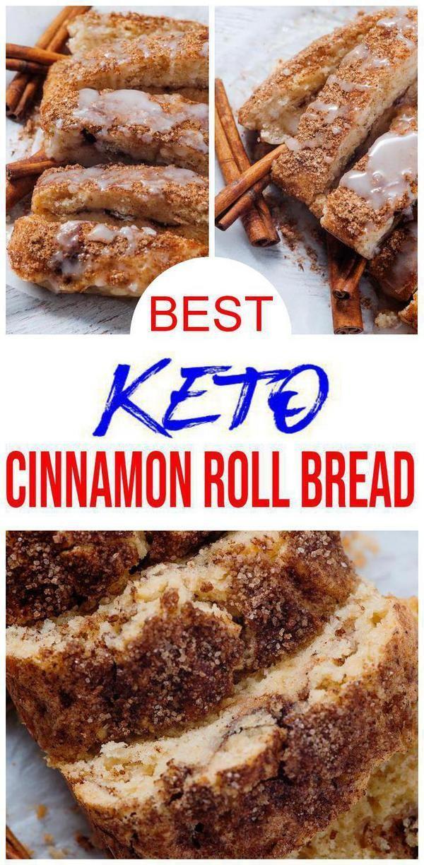 BEST Keto-Brot! Low Carb Cinnamon Roll Laib Brot Idee – Quick & Easy Ketogene Diät Rezept – Komplett Keto-freundlich – Glutenfrei – Zuckerfrei