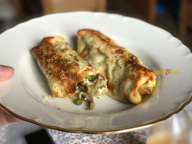 Ricetta Cannelloni di Crepes Senza Glutine con Verdure e Crema di Ricotta al Limone - FOTO e VIDEO,Primo piatto,Senza Glutine, Tradizionale