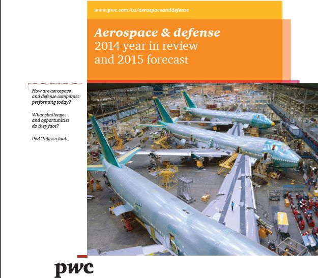I'd like to share '' Aerospace & Defense 2014 Year in Review and 2015 Forecast'' reported byScott Thompson,Charles Marx,James Grow,Randy Starr from PWC. In this report you can find some in...