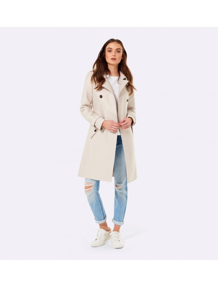 Corrie Classic Trench Coat Stone - Womens Fashion | Forever New