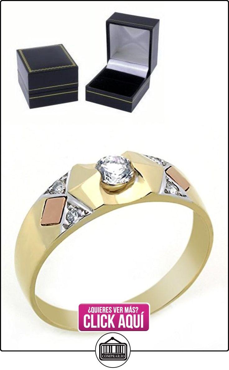 Pequeños Tesoros - Anillo de hombre - Anillo de compromiso y boda de oro 0.3ct Circonita  ✿ Joyas para hombres especiales - lujo ✿ ▬► Ver oferta: https://comprar.io/goto/B00BFX78D8