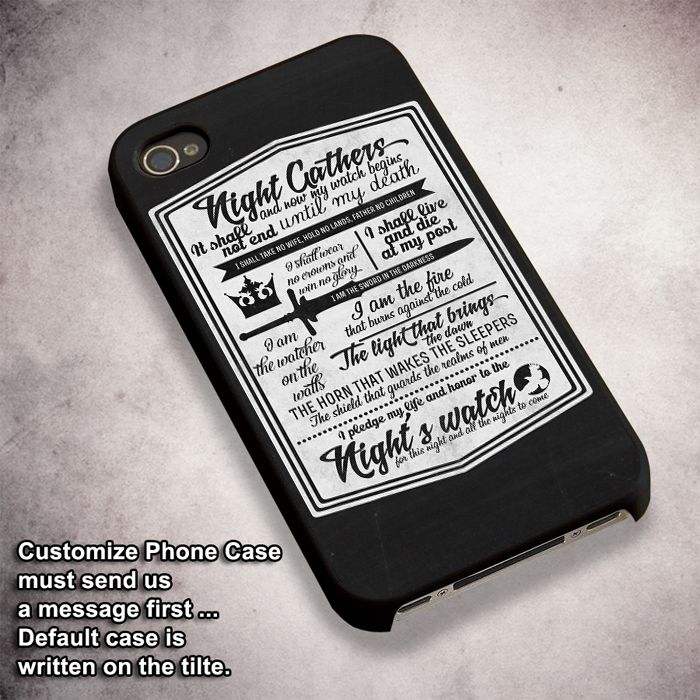 Nights Watch Oath (2) - For iPhone 4/ 4S/ 5/ 5S/ 5SE/ 5C/ 6/ 6S/ 6 PLUS/ 6S PLUS/ 7/ 7 PLUS Case And Samsung Galaxy Case