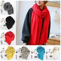 Новые Популярные Женщины Мягкий теплый шарф Вязание Шерстяные Длинные шарфы шали обруча зима