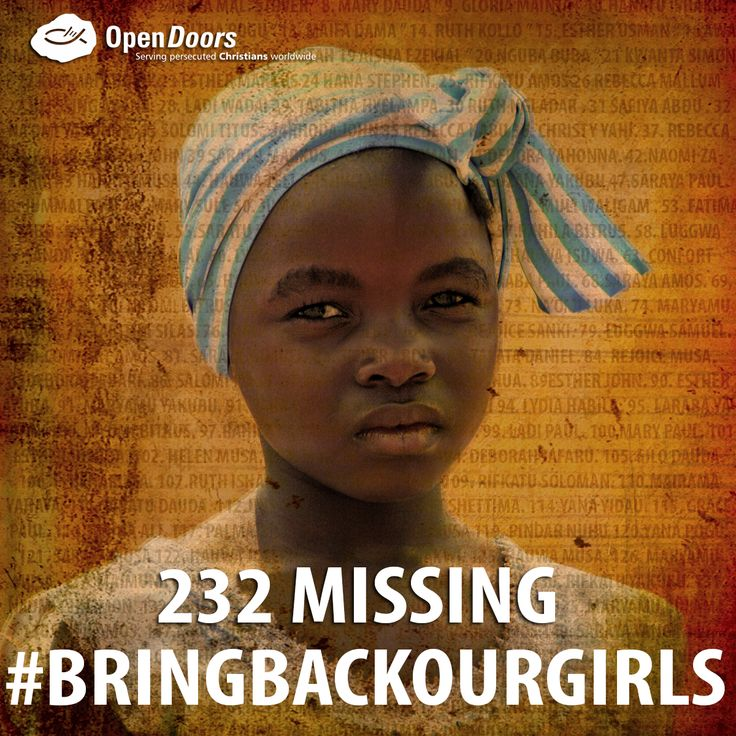 On 14 April 2014, over 200 girls were abducted by Boko Haram from Chibok in northeastern Nigeria.  165 of them were Christians.  Of the 275 students present during the attack and abduction, our sources say 23 avoided being taken, 16 jumped off trucks as they were taken to the camps and four managed to escape after arrival. Apart from the four, no others have managed to escape since.  Open Doors continues to be there for the Christian parents of the abducted girls.