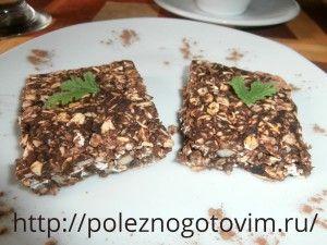 Шоколадно – овсяное печенье без выпечки