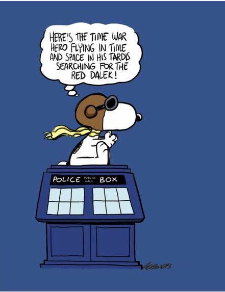 Doctor Who / Peanuts mashup