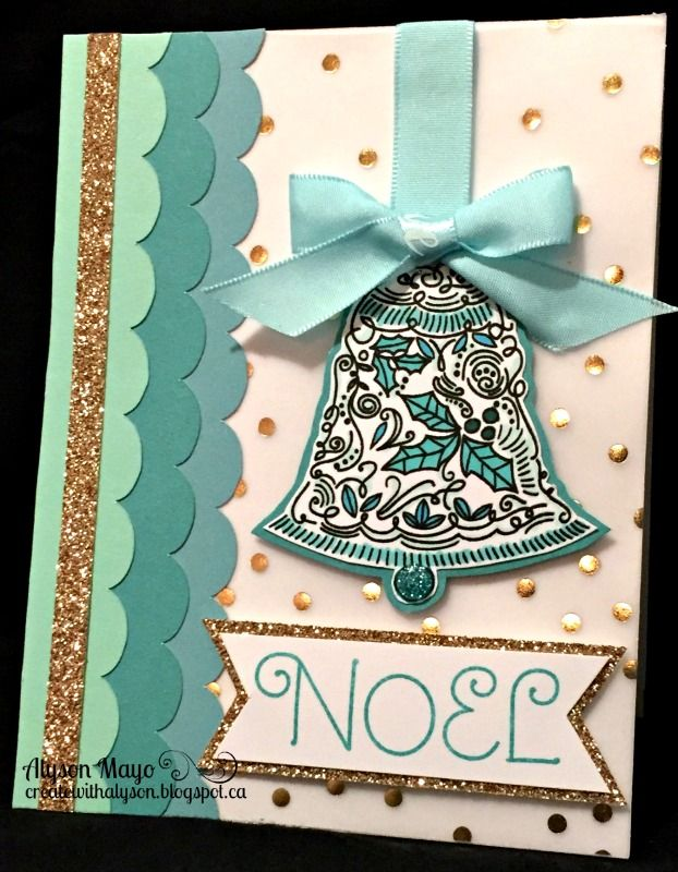 """Welcome to October's Stamp of the Month Blog Hop! This month, we are featuring the stamp set """"Yuletide Joy"""" - a set of 7 stamps. This..."""