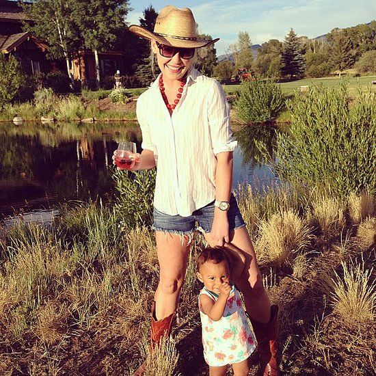 Katherine Heigl soaked up the Summer sun with little Adalaide.