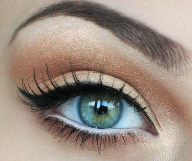 Eye makeup for green eye. Love the cat eye!