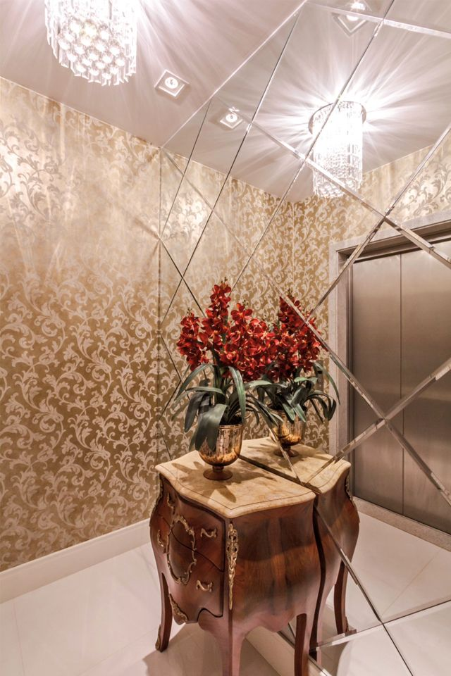 Hall do elevador – veja modelos lindos e dicas de como decorar! Veja muito mais fotos, dicas e informações técnicas desse hall do elevador em Decor Salteado! É só clicar na imagem! ; - )