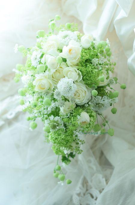 挙式ブーケ 綱町三井倶楽部様へ : 一会 ウエディングの花