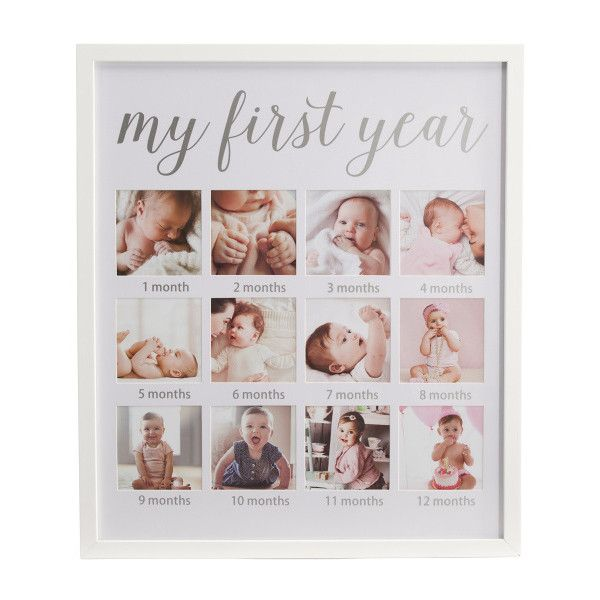 My First Year Collage Frame 20 Liked On Polyvore Featuring Home Home Decor And Frames Family Picture Collages 1st Birthday Pictures Baby Frame