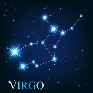 Image detail for -of 'vector of the virgo zodiac sign of the beautiful bright stars ...