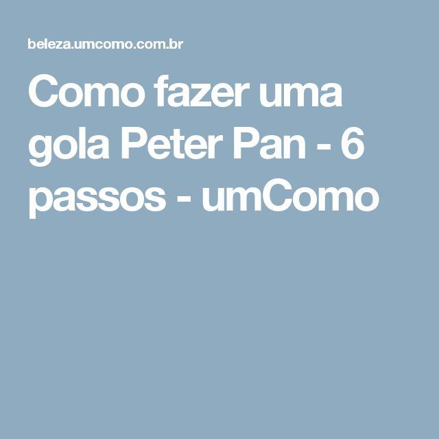 Como fazer uma gola Peter Pan - 6 passos - umComo