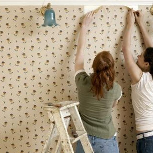Removing wallpaper is a tedious but rewarding task.