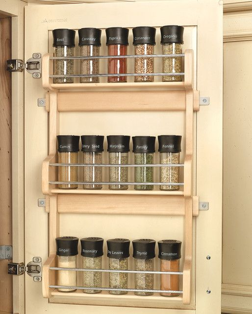 Wood Classics Maple Spice Rack  cabinet and drawer organizers --- want something like this with at least 3 levels