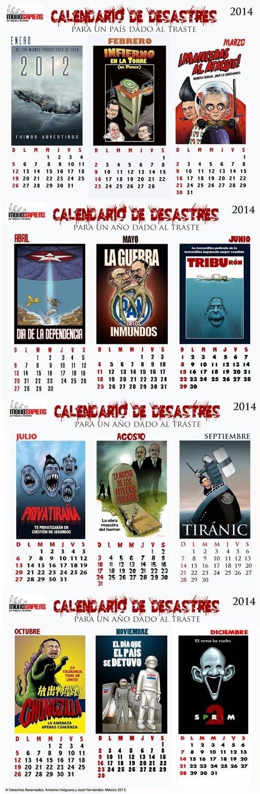 Calendario México 2014