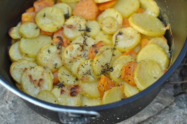 Fisch mit Zitronenvinaigrette und dem Fräulein Ziii ihr Kartoffelauflauf