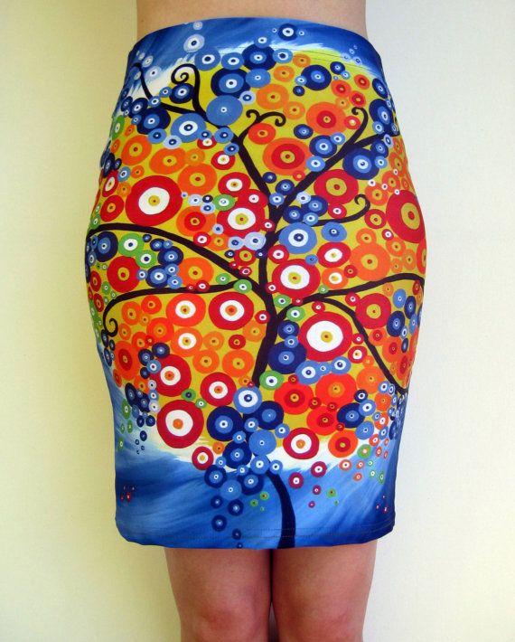 tight skirts tree of life skirt rainbow skirt skirt in