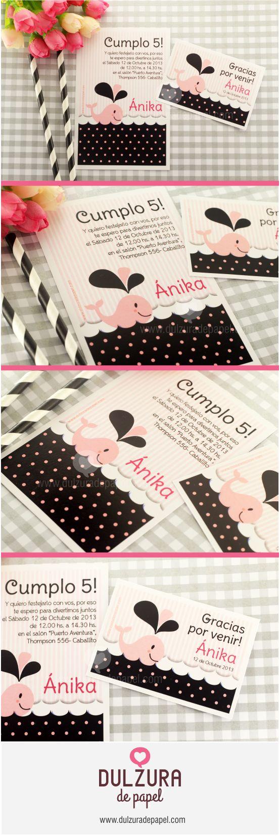 Invitación Cumpleaños nena #invitacion #imprimible #cumpleaños