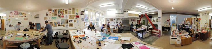 The printmaking studio