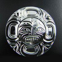 Moon Spirit Silver Pendant by Rick Johnson