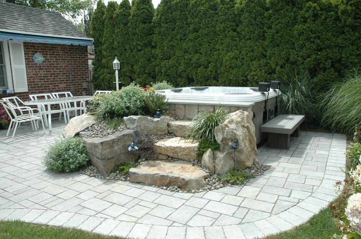 idea is incorporate outside hot tub, both in ground and above ground ...