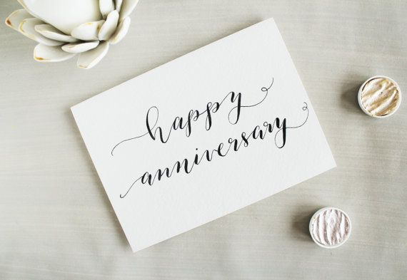 Happy Anniversary Wedding Anniversary Card by PenPaperInkCo