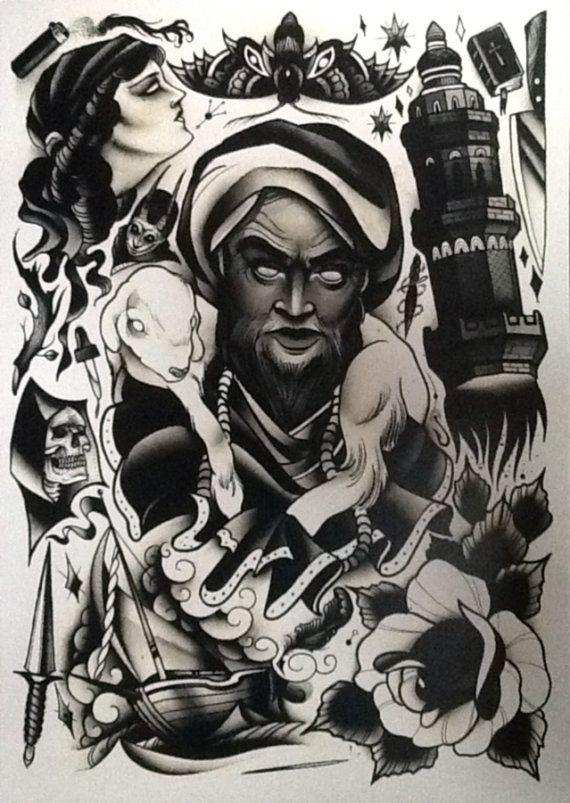 Pari Corbitt Tattoo Art Flash Sheet 07 by WAInkTattoo on Etsy
