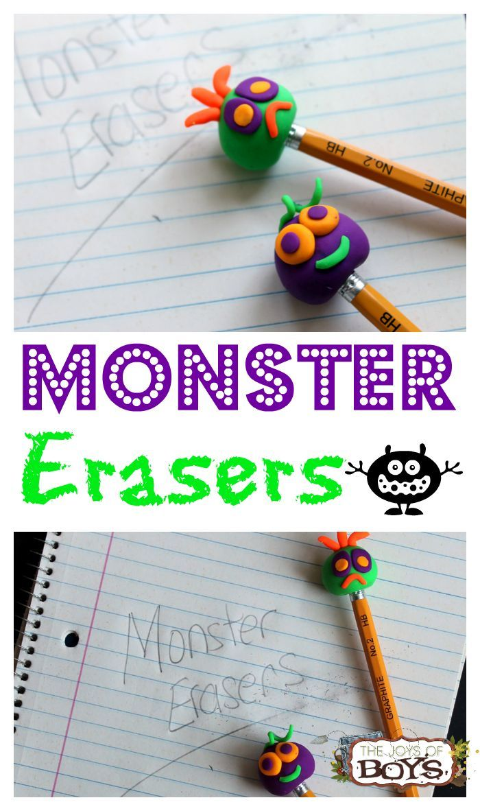 How To Make Monster Erasers
