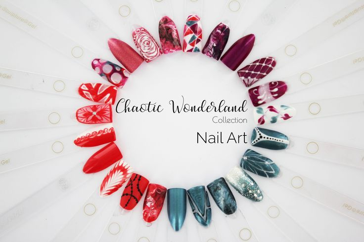Chaotic Wonderland Collection Nail Art